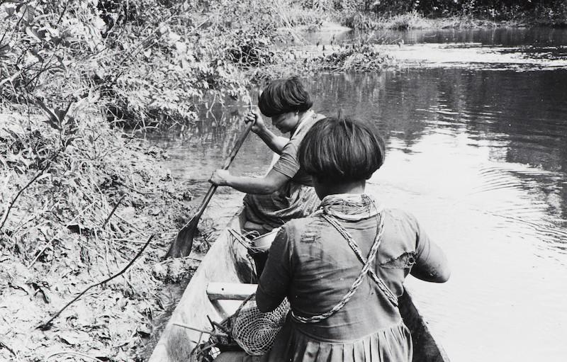 Mulheres em busca de ''moto''. Fuduuwaadunnha. TI Yanomami, Roraima. Ana Gita de Oliveira, 1974.