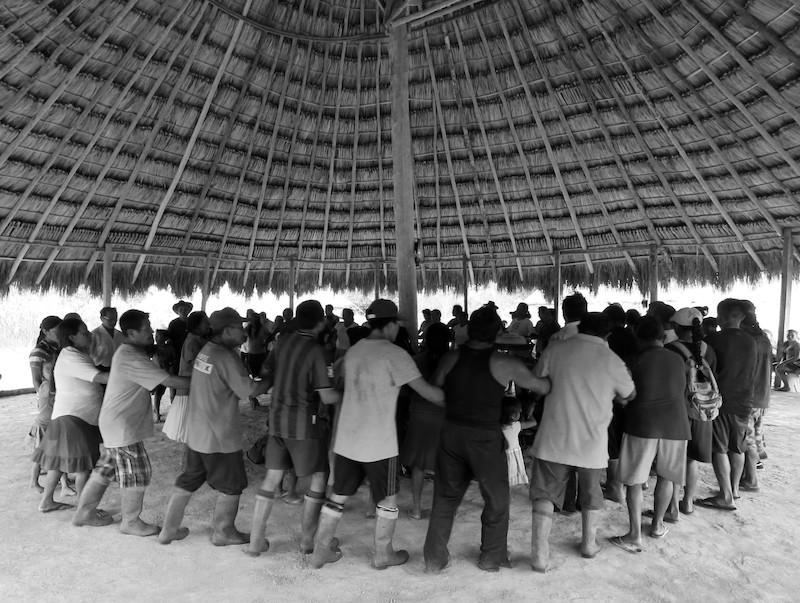 Festa da religião Areruya na comunidade Manalai. Foto: Virgínia Amaral, 2016.