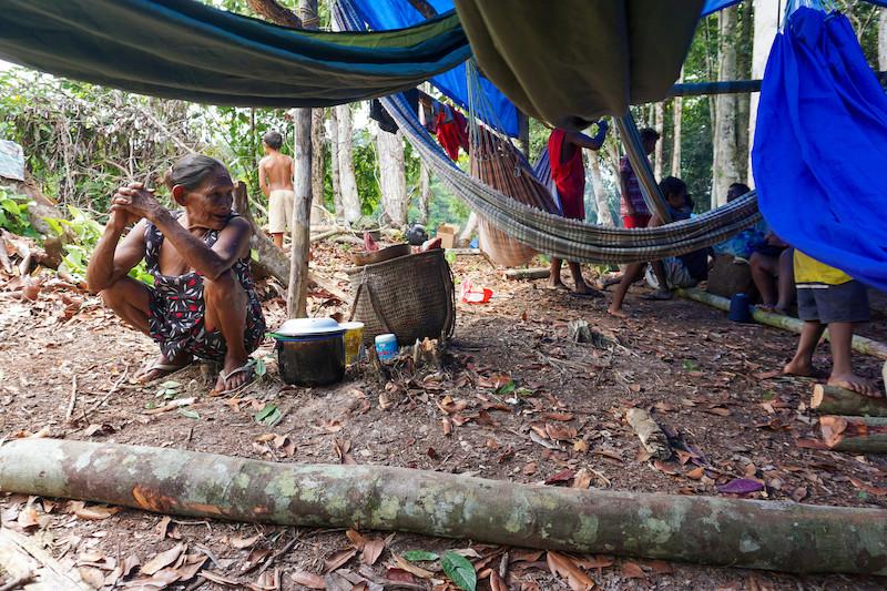 Acampamento temporário dâw no Sitio Belém. Foto: Karolin Obert, 2018.
