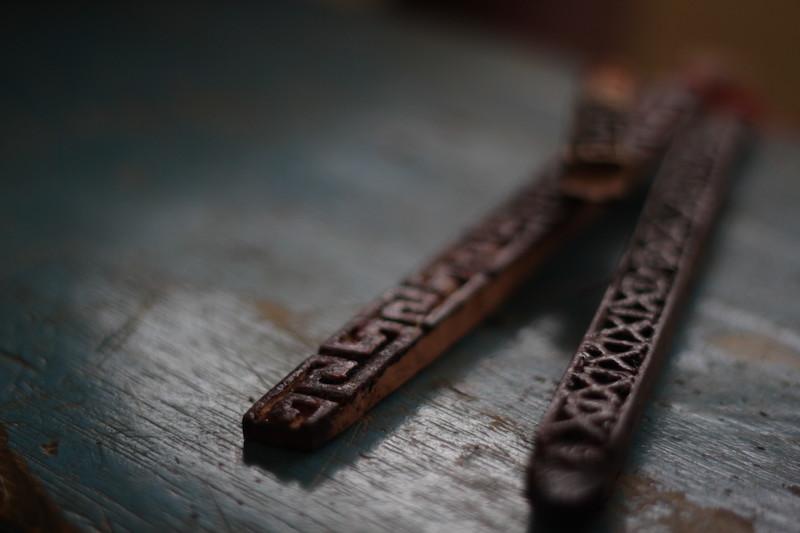 Carimbos (''akaajä'') usados na pintura facial e corporal. Fuduuwaadunnha. TI Yanomami, Roraima. José Cury/ Museu do Índio-FUNAI / Povo Ye'kwana, 2018.