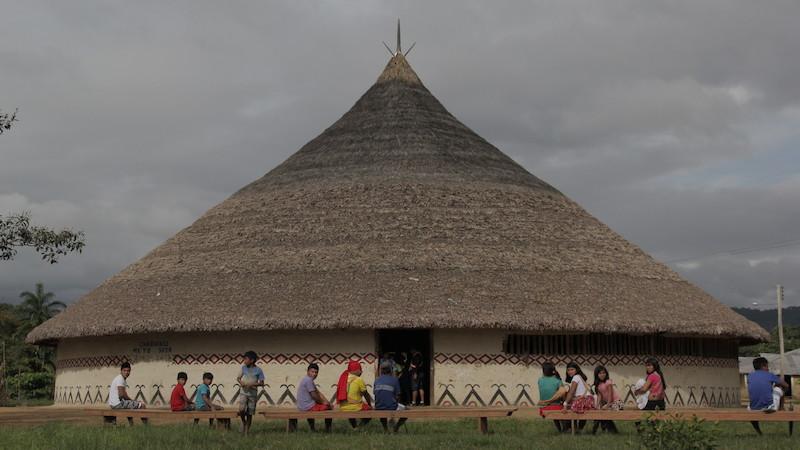 Casa redonda (''ättä''). Fuduuwaadunnha, TI Yanomami. José Cury/ Museu do Índio-FUNAI / Povo Ye'kwana, 2018.