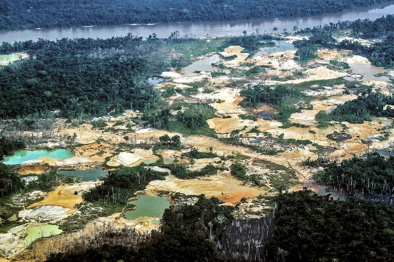"""""""Tatuzão do Mutum"""", área de garimpo próxima à comunidade Waichannha. TI Yanomami, Roraima. Marília Garcia Senlle/ISA, 2019."""